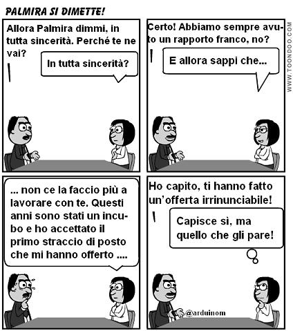 Palmira di dimette